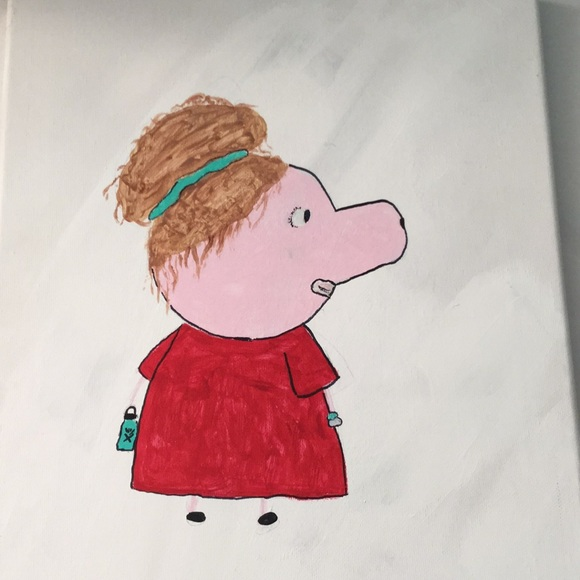 Wall Art Vsco Girl Peppa Pig Painting Poshmark